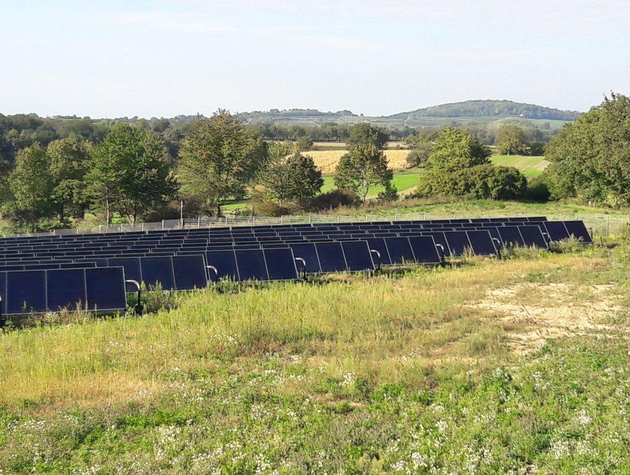 Größte Solarthermieanlage in Mittelbaden