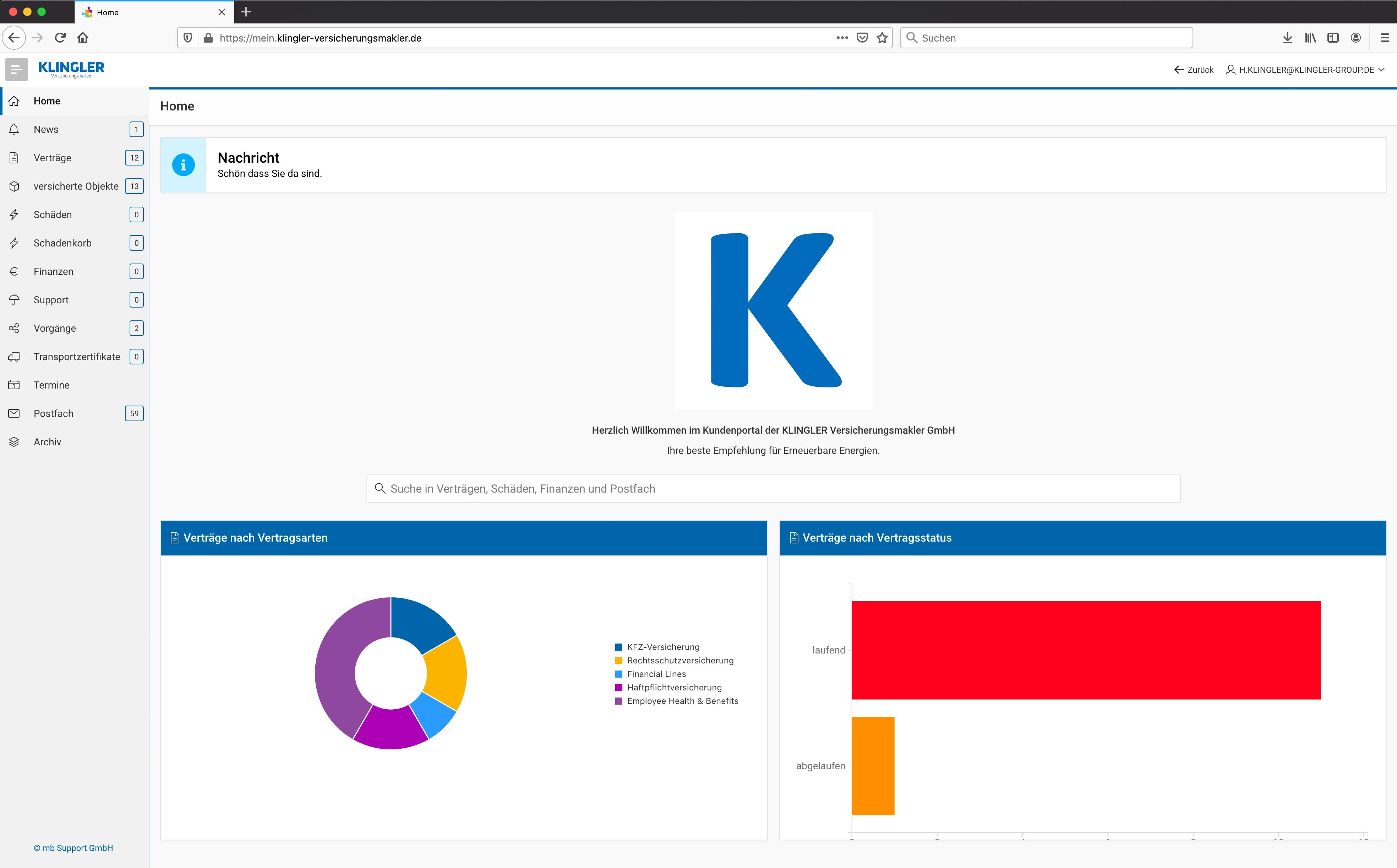 Klingler_Versicherungsmakler_Kundenportal_1